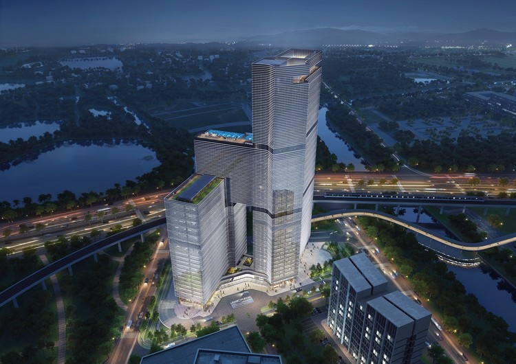 Aedas Unveils Project at Start of Historic Maritime Silk Road, © Aedas