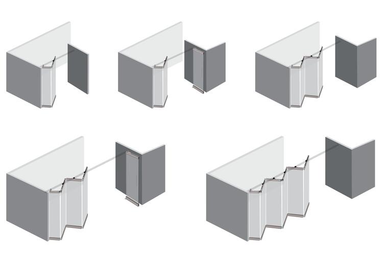 Aprende a instalar sistemas de corredera para puertas colgantes y plegables, Cortesía de Ducasse Industrial