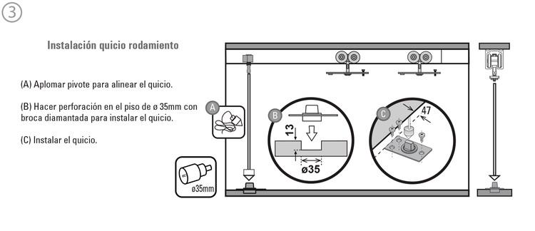 Aprende a instalar sistemas de corredera para puertas