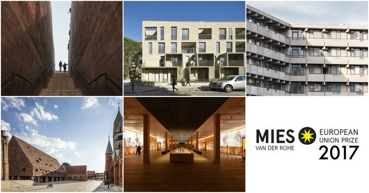 Selecionados 5 finalistas para o Prêmio Europeu de Arquitetura Contemporânea Mies Van der Rohe 2017