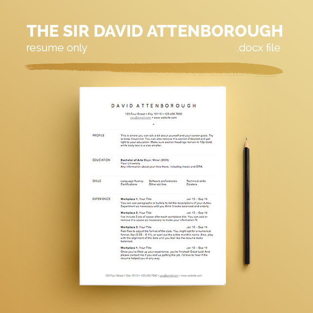 Free Resume Templates For Architects | Archdaily