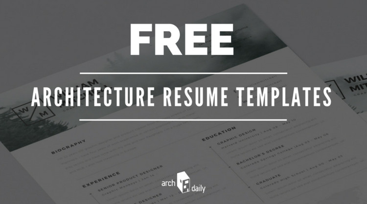 free resume templates for architects | archdaily, Presentation templates