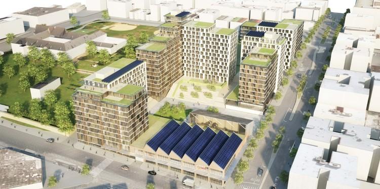 WXY y BLA revelan nuevo desarrollo de vivienda social en Nueva York, Cortesía de WXY/BLA