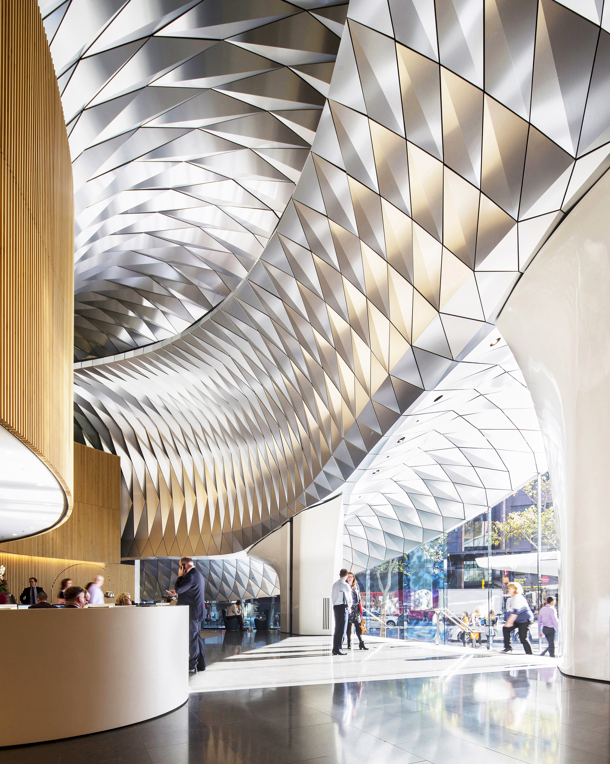 580 George Street Lobby Upgrade Fjmt Archdaily
