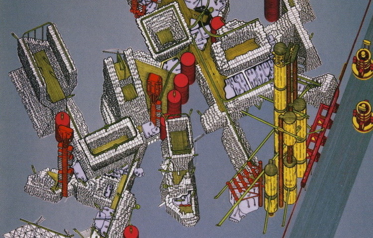 80 at 80 Exhibition to Celebrate the Architectural Career of Sir Peter Cook, Plug-in City / Archigram. Image © Peter Cook