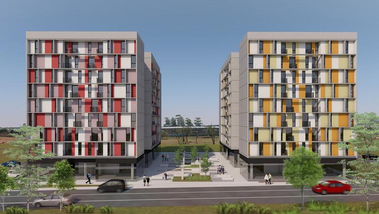 3º Lugar no concurso CODHAB-DF para edifícios de uso misto em Santa Maria/DF, Cortesia de AGA – Alexandre Gonçalves Arquitetura