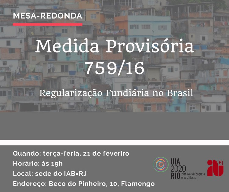 IAB-RJ promove mesa-redonda para discutir a regularização fundiária no Brasil, Cortesia de IAB-RJ