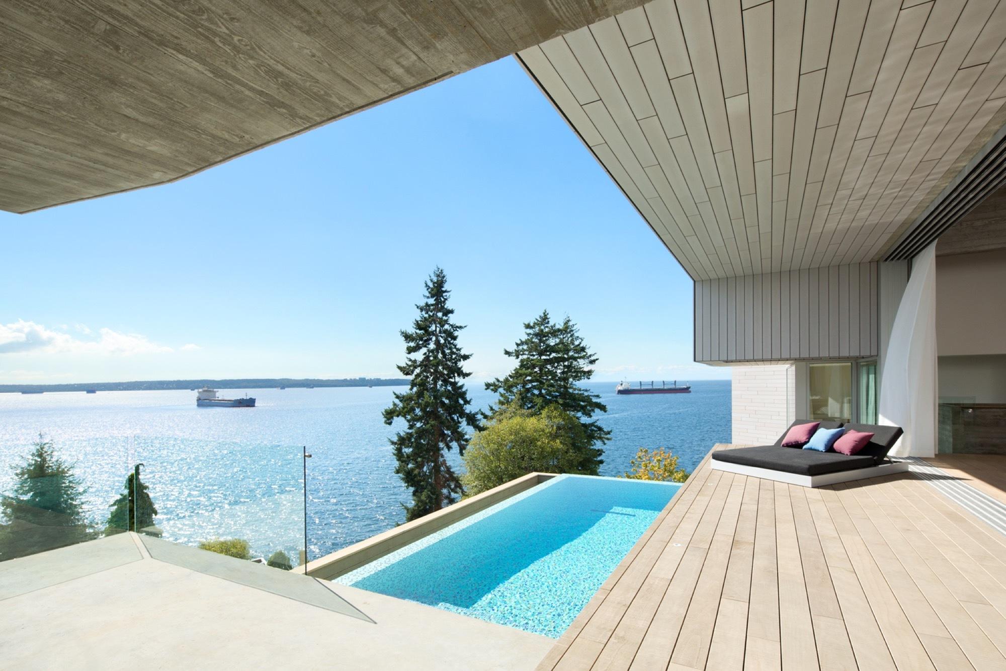 Gallery of sunset house mcleod bovell modern houses 10 for Pool design vancouver