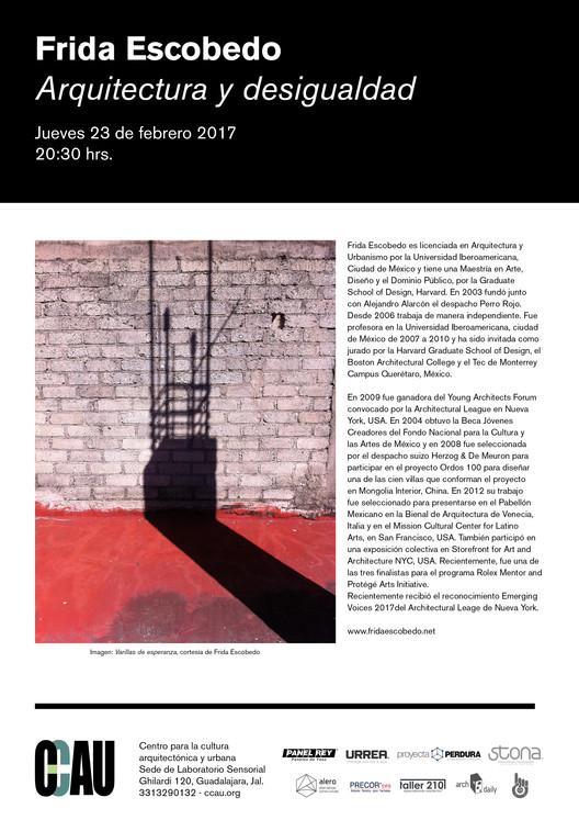 Jueves de CCAU: Frida Escobedo | Arquitectura de desigualdad, ccau