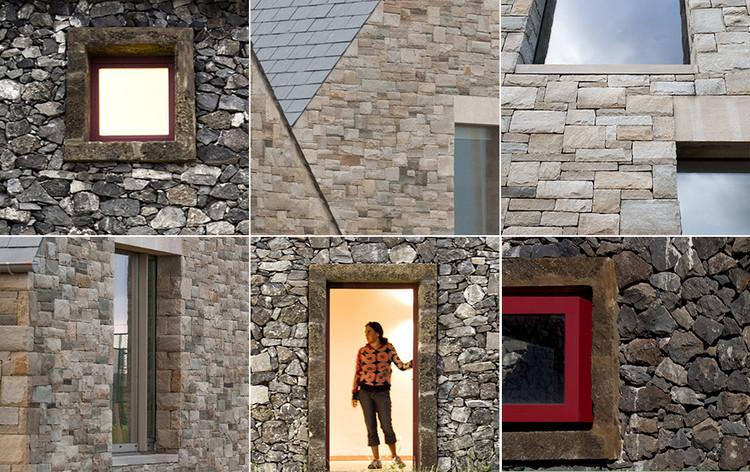 Detalles constructivos de arquitectura con materiales pétreos