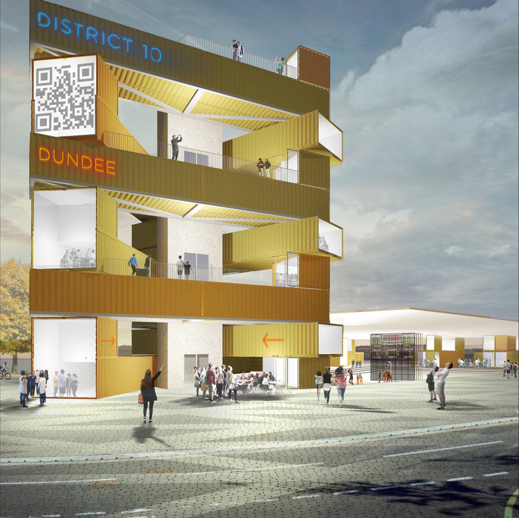 Studioshaw's Competition-Winning Interactive Hub for Dundee, Flexible studios to aid Dundee's thriving digital creative sector. Image Courtesy of Studioshaw