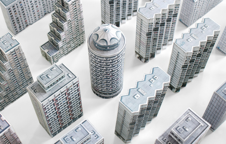 Paper Models of the Most Controversial Buildings Erected Behind the Iron Curtain, Brutal East. Image Courtesy of Zupagrafika