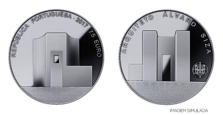 Eduardo Souto de Moura Designs Portuguese Coin Commemorating Álvaro Siza, Coin dedicated to Álvaro Siza Vieira designed by Eduardo Souto Moura. Image via OASRS - Facebook