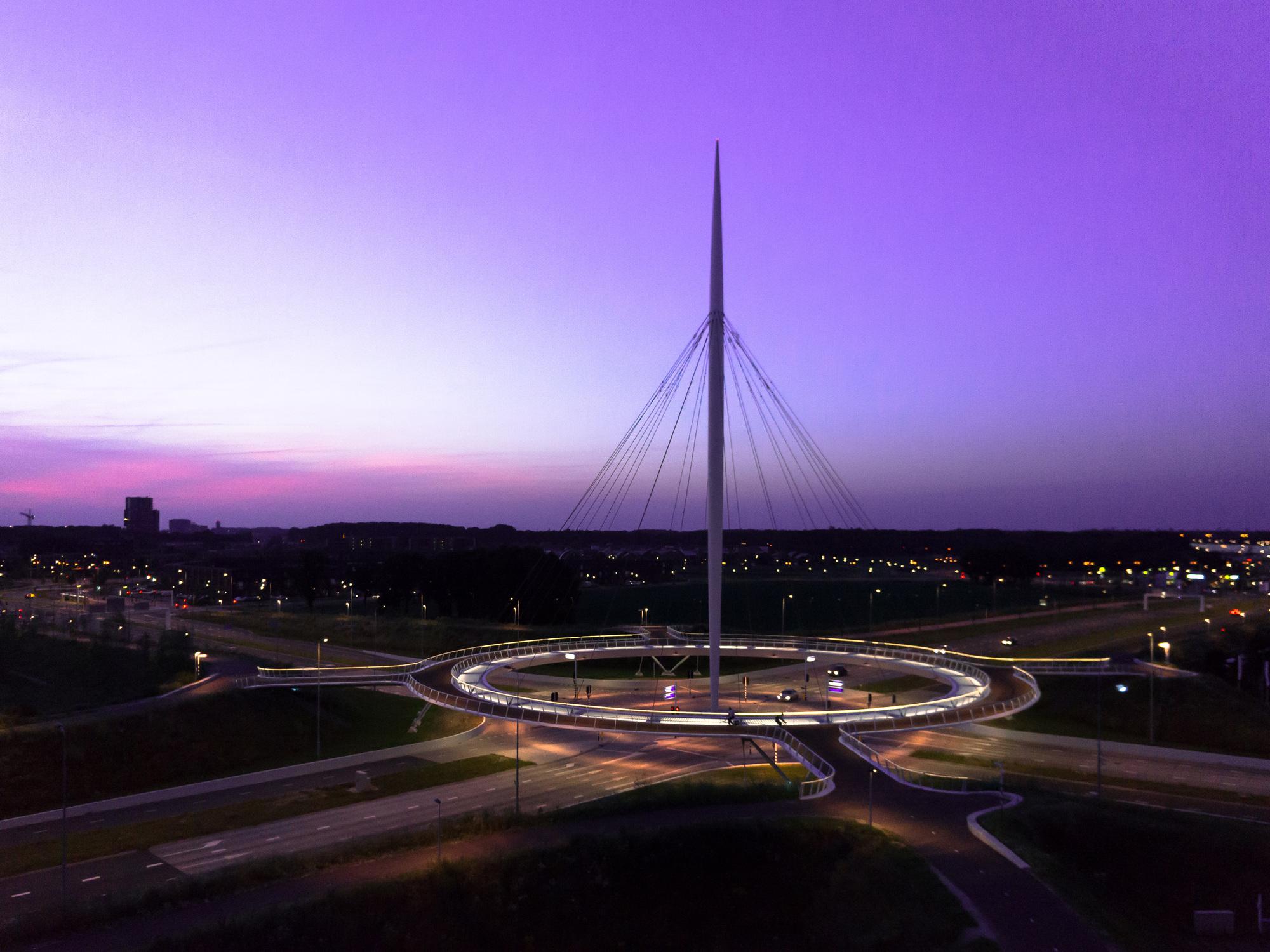Hovenring Circular Cycle Bridge Ipv Delft Archdaily