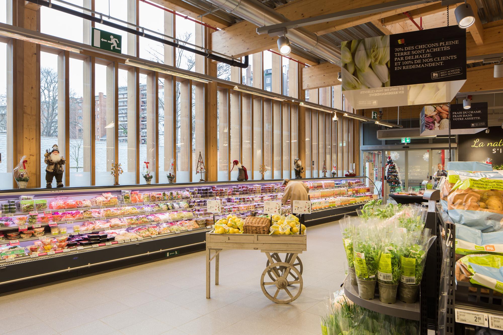 layout of delhaize de leeuw supermarket