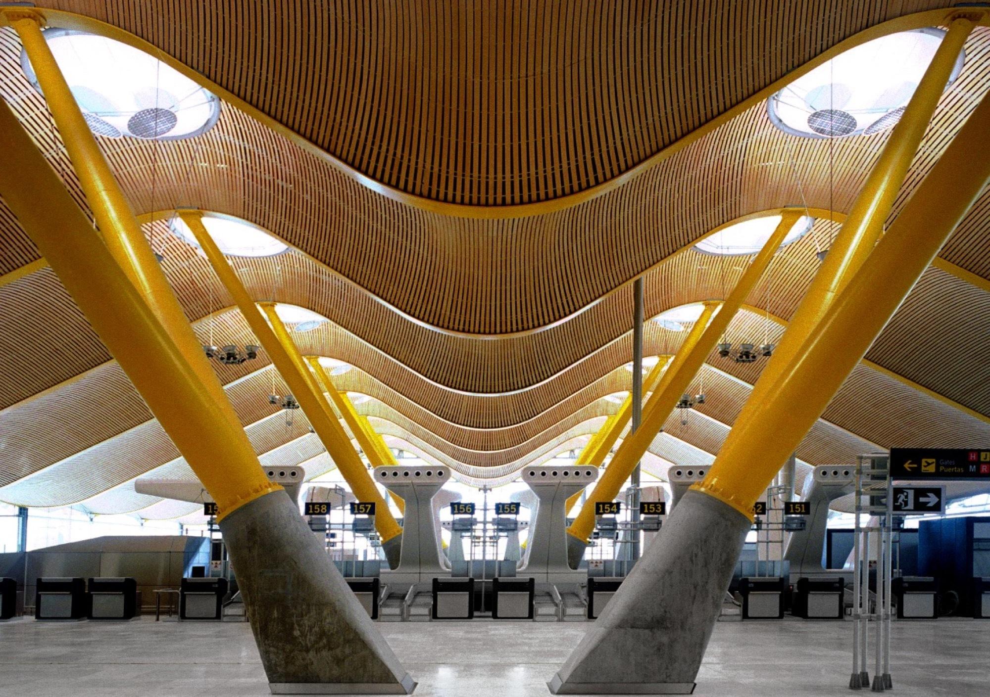 Madrid barajas airport terminal 4 estudio lamela - Terminal ejecutiva barajas ...