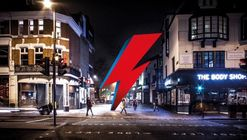 This Campaign Envisions a Three-Storey Lightning Bolt in Honour of David Bowie