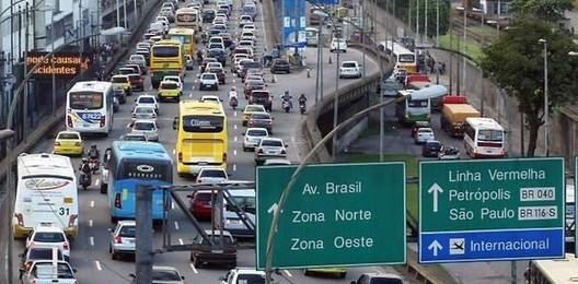 Ranking das cidades mais congestionadas do Brasil e do mundo, Rio de Janeiro, a cidade mais congestionada do país. Crédito da imagem: Reprodução