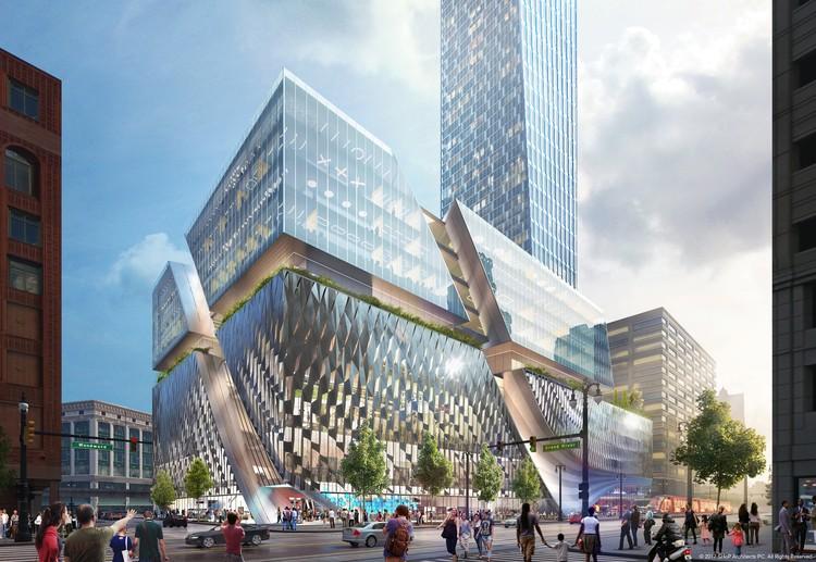 SHoP Unveils Plans for Detroit's Tallest Tower on Historic Downtown Site, © SHoP Architects PC