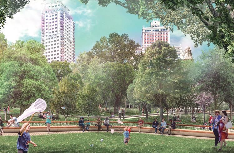 Welcome Mother Nature, proyecto ganador para la nueva Plaza de España de Madrid, Cortesía de Ayuntamiento de Madrid