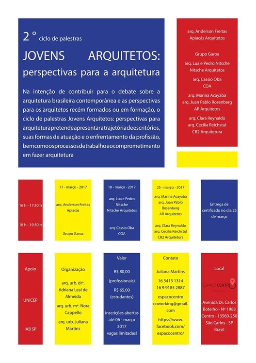 2º Ciclo de Palestras Jovens Arquitetos
