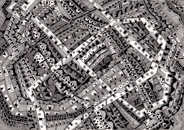 Las ciudades invisibles de Italo Calvino ilustradas (nuevamente), Zobeida. Image © Karina Puente Frantzen