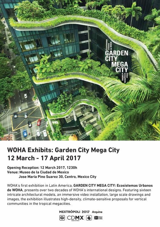 WOHA presentará Garden City Mega City en el Museo de la Ciudad de México, Courtesy of WOHA