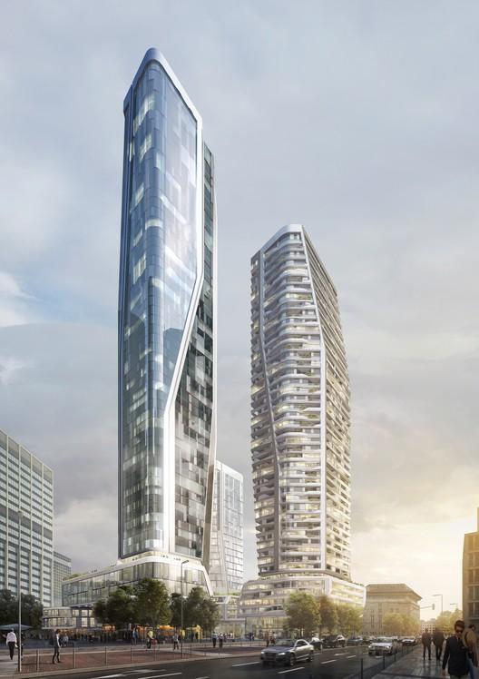 UNStudio Wins Competition for Landmark Mixed-Use Development in Frankfurt