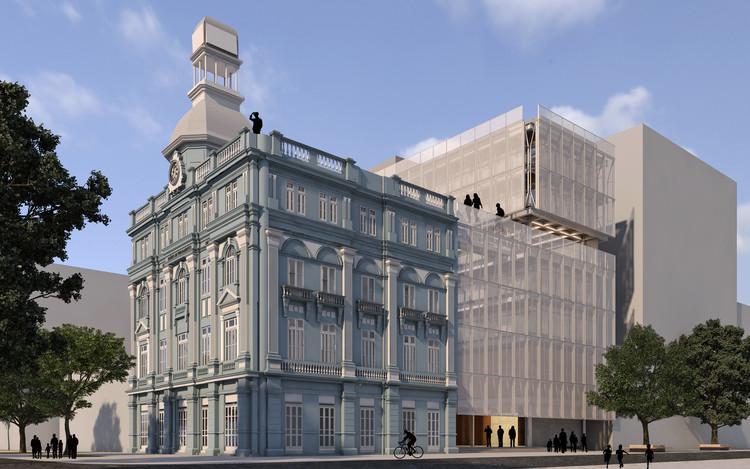 2º Lugar no Concurso Porto Digital para requalificação da antiga sede do Diário de Pernambuco, em Recife, Cortesia de s.z arquitetura