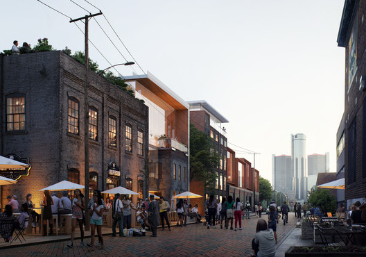 The Historic Stone Soap Building will be upgraded to a mixed-use development, increasing density and activity along the riverfront. Image Courtesy of City of Detroit
