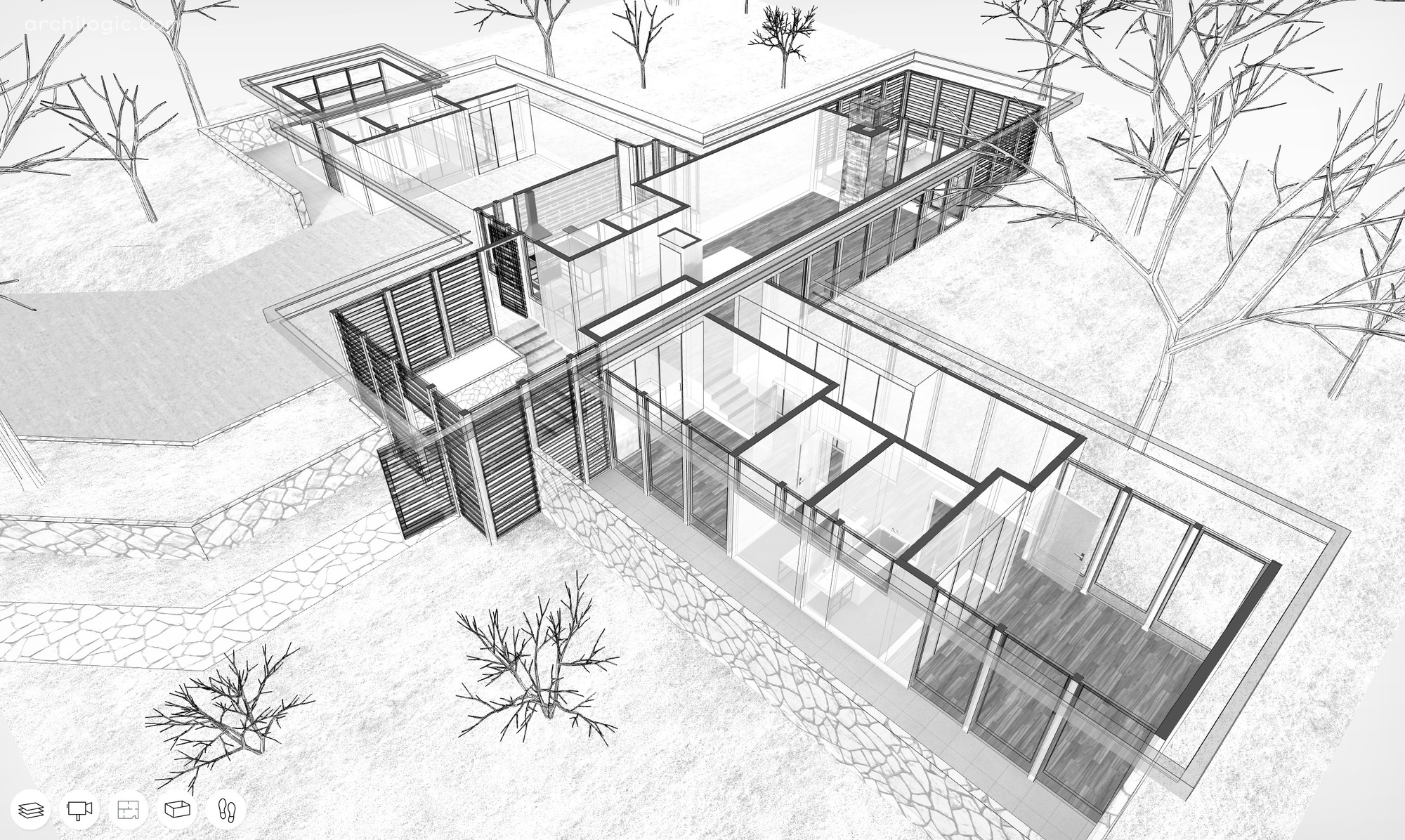 A virtual look inside the case study house 12 by whitney for Looking for an architect to design a house