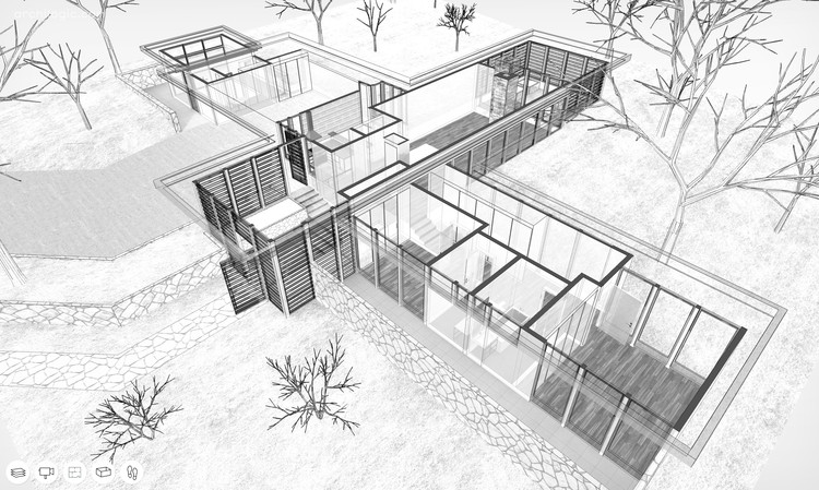 Um passeio virtual pela Case Study House #12 de Whitney R. Smith, Cortesia de Archilogic