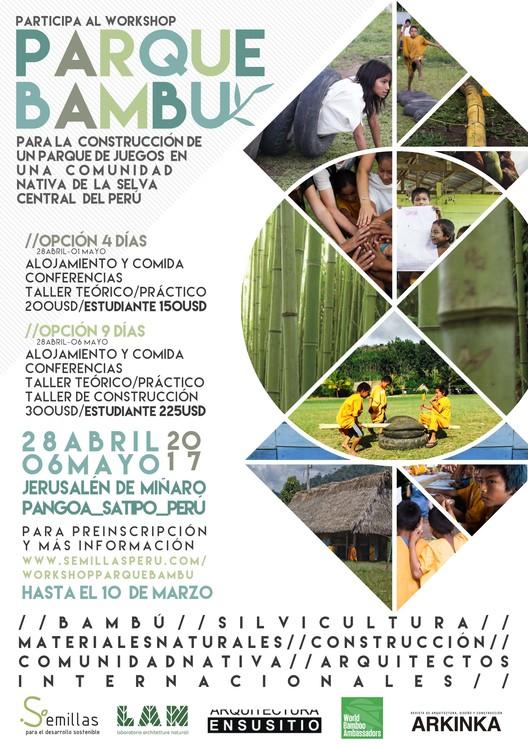 Workshop internacional 'Parque Bambú' junto a Semillas, ENSUSITIO, World Bamboo Organization y LAN