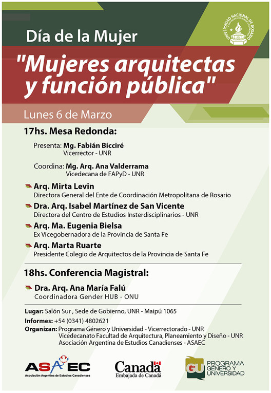 Ciclo de encuentros: Mujeres Arquitectas 2017 / Rosario, Argentina, Cortesía de Facultad de Arquitectura, Planeamiento y Diseño - UNR