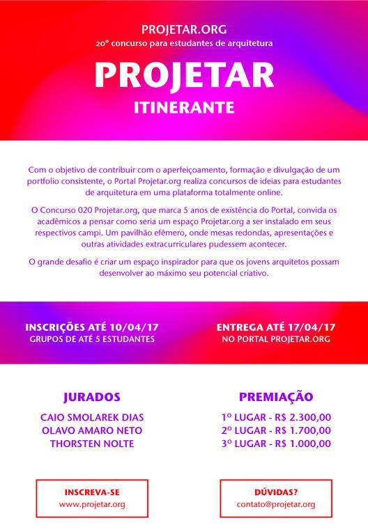 Concurso de Ideias para Estudantes de arquitetura da Projetar.org #020 Itinerante, Concurso 020 - Itinerante