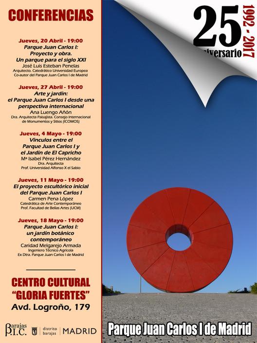 Ciclo de conferencias: 25º aniversario del Parque Juan Carlos I