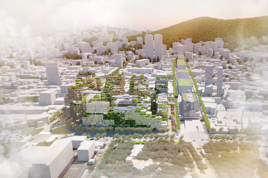 The scheme's massing responds to the rhythm of surrounding streets. Image Courtesy of KCAP