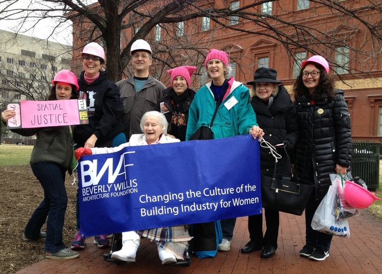 Architects Across Generations, Beverly Willis at the DC Women's March
