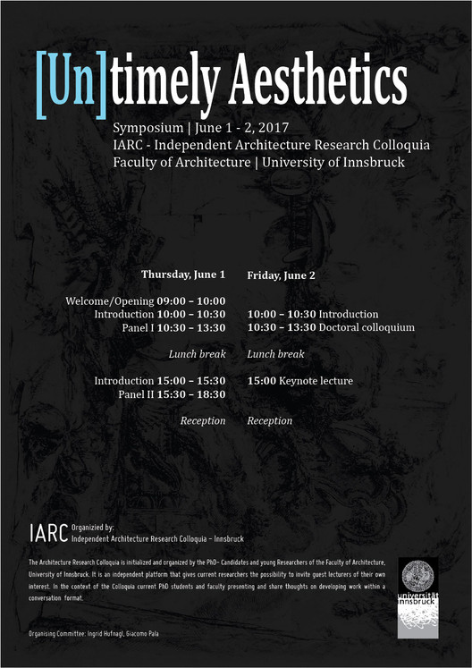 Symposium: [UN]timely Aesthetics, IARC