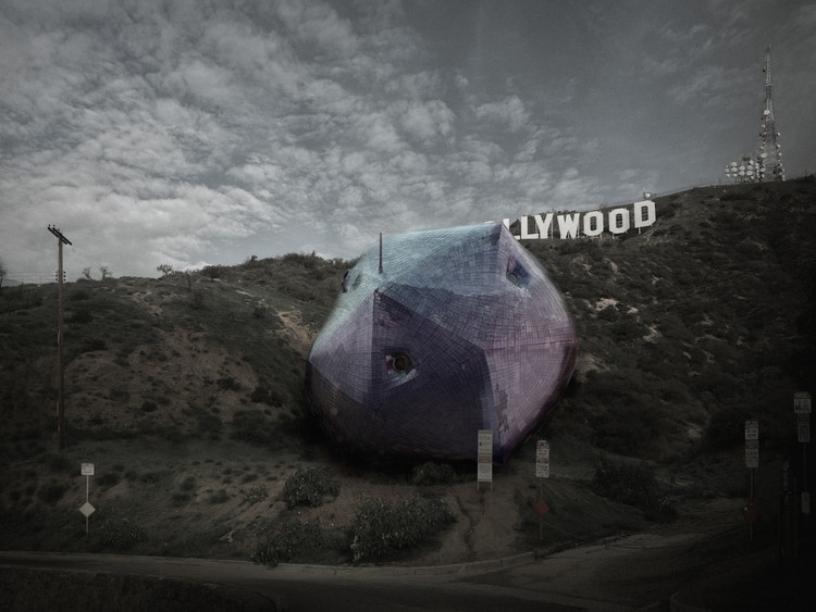 Winners Announced for Competition to Design a House Under the Hollywood Sign, First Place: Ambivalent House / Hirsuta (Jason Payne, Michael Zimmerman, Joseph Giampietro, Ryosuke Imaeda); Los Angeles, California, USA. Image Courtesy of arch out loud