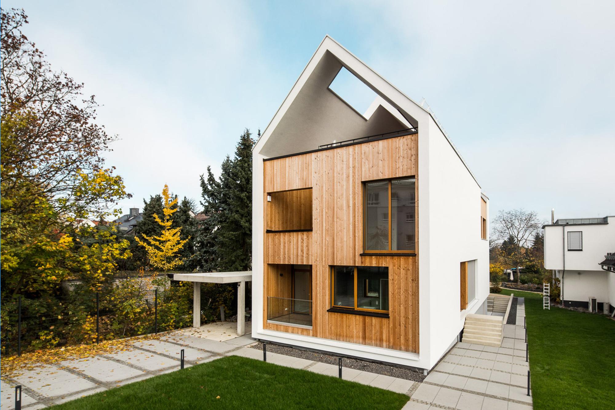 wohnhaus am hainerweg jop architekten archdaily. Black Bedroom Furniture Sets. Home Design Ideas
