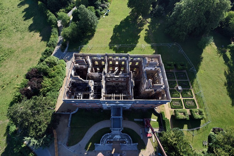 Clandon Park International Design Competition - Call for Submissions, View from above into the ruins of Clandon Park, Surrey © National Trust Images & John Millar