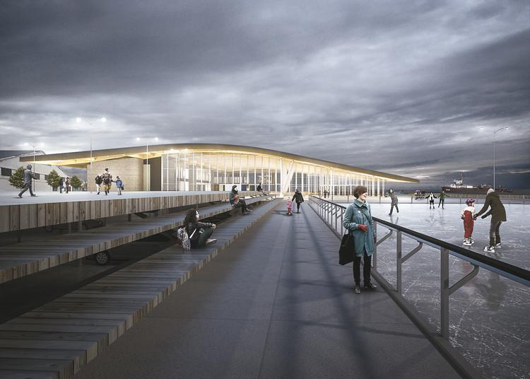 Proposta de Estudio America e Mario do Val no Concurso para o Terminal Internacional de Passageiros de Punta Arenas, Chile , Cortesia de ESTUDIO AMERICA + MARIO DO VAL