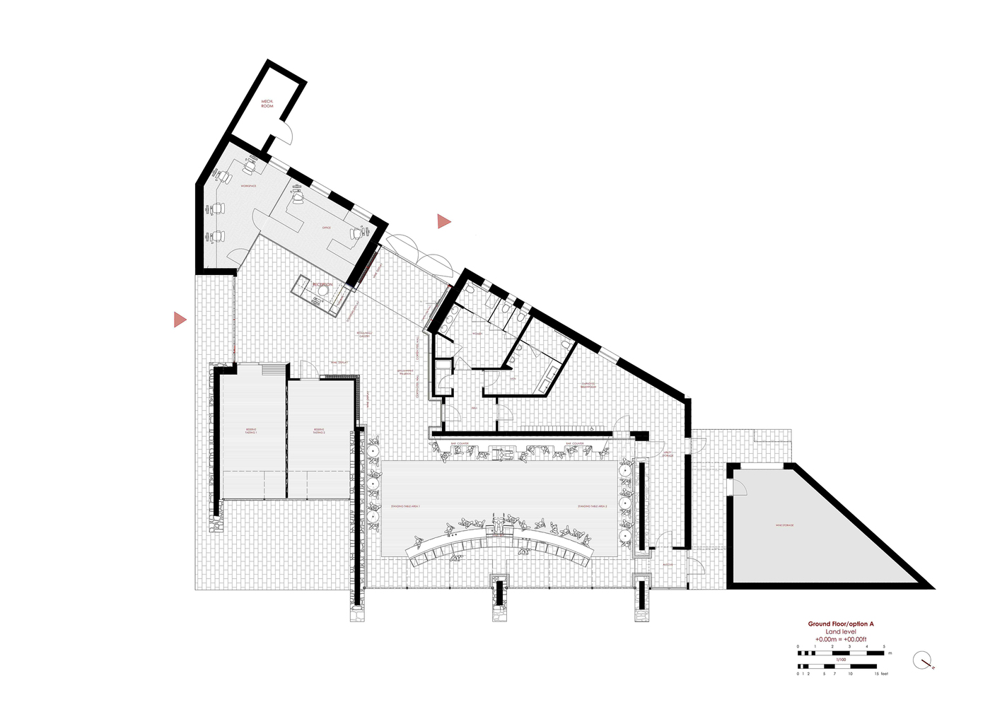 Stagu0027s Leap Wine Cellar Winery Visitor CenterGround Floor Plan  sc 1 st  ArchDaily & Gallery of Stagu0027s Leap Wine Cellar Winery Visitor Center / BC ...
