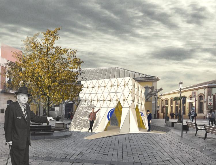 Concéntrico 03 presenta diseños ganadores de pabellón e intervención en la plaza de Revellín, ORIGAMI 000485. Image Cortesía de Concéntrico