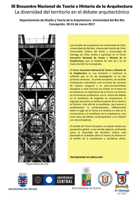 Tercer Encuentro Nacional de Teoría e Historia de la Arquitectura, Universidad del Bío-Bío