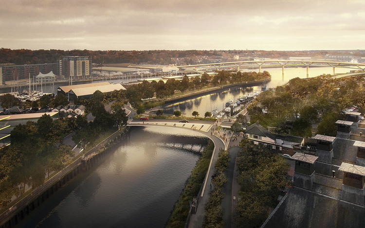 Foster + Partners Wins Ipswich River Crossings Competition, © Foster + Partners