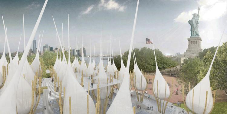 Museu na Estátua da Liberdade aponta para a injustiça social através de tweets, © Jung woo Ji + Bosuk Hur + Suk Lee (Ji+Hur+Lee)