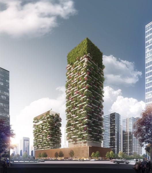Stefano Boeri Architetti revela projeto para torre com floresta vertical em Nanjing, © Stefano Boeri Architetti