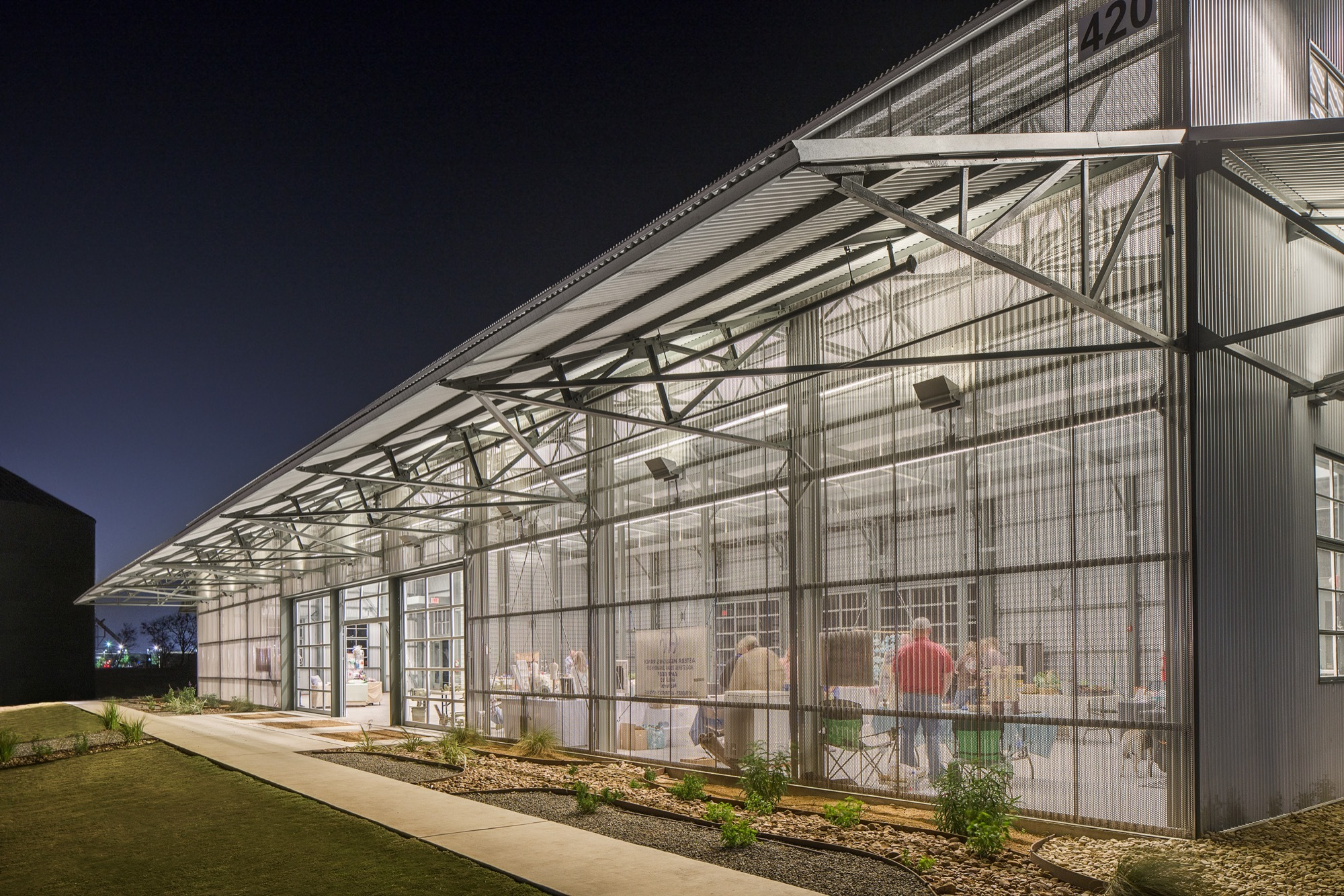 library archdaily cotton gin at the co op district antenora architects